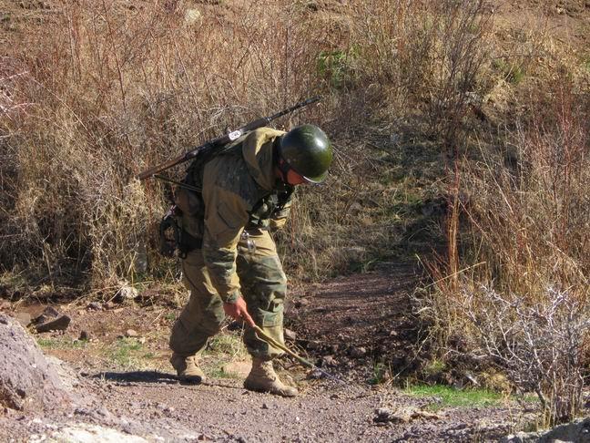 В горах под Шымкентом бойцы Беркута сдавали экзамены
