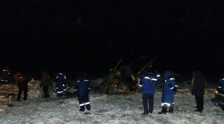 Крушение вертолета Ми-8 в Казахстане