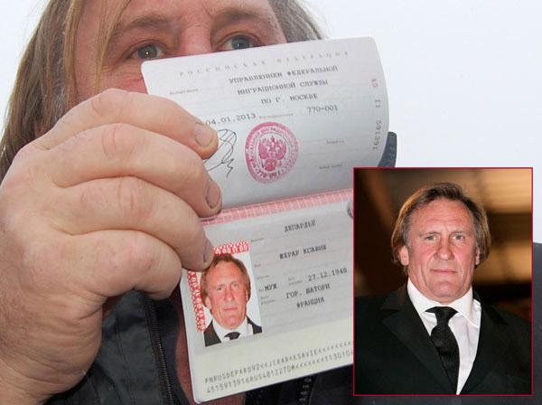 Фото российского паспорта Жерара Депардье