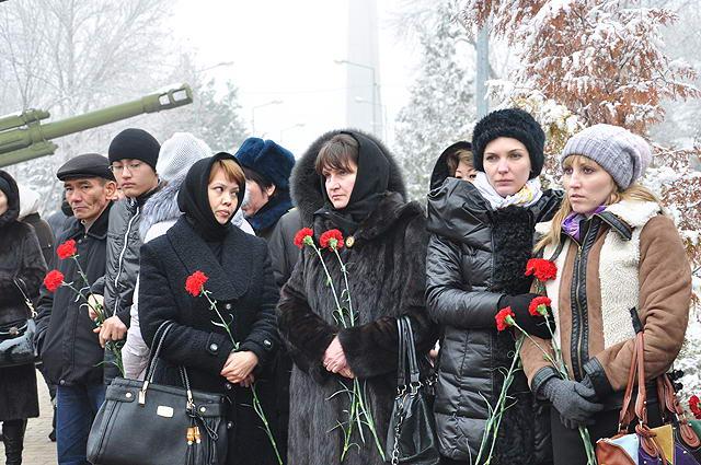 Траурный митинг в память по погибшим пограничникам прошел в Шымкенте