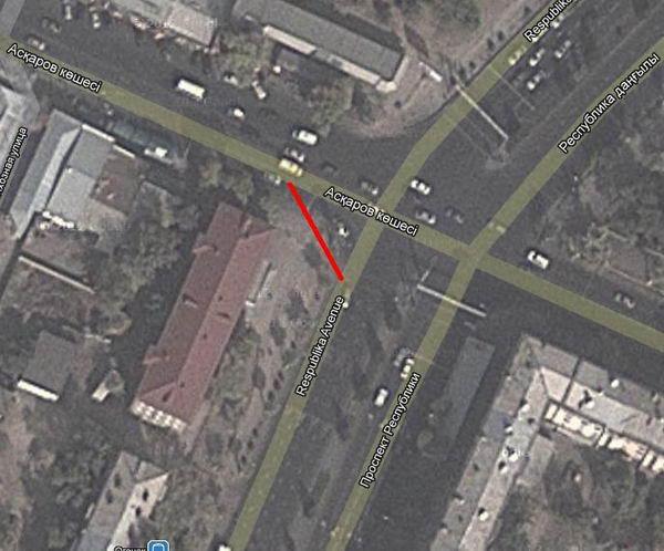 Перекресток прспект Республики — улица Аскарова становится смертельно опасным